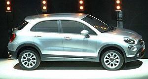 Fiat 2013 500X Silver bullet: Fiat revealed the 500X mini SUV to journalists in Italy.