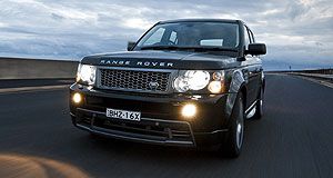 Land Rover Range Rover Sport Kitted out: Stormer styling harks back to the Range Stormer concept car.