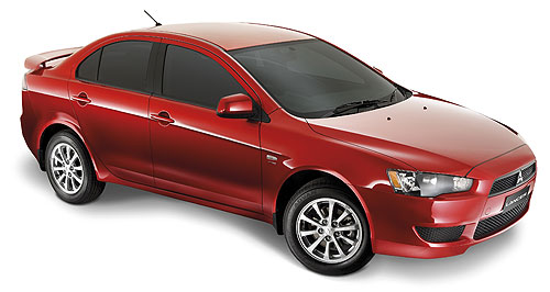 Mitsubishi Lancer Spruce up: The Mitsubishi Lancer has been given the once-over for the 2010 model year.