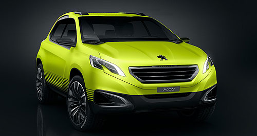 Peugeot 2013 2008 Tonka: The chunky 2008 concept is a good indication of how Peugeot's anticipated crossover rival to the Nissan Juke and Ford EcoSport will look when it hits showrooms next year.
