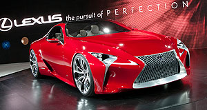 Lexus 2013 LF-LC Show stopper: Cars like the Lexus LF-LC hybrid concept are helping change the perception of the Japanese brand.
