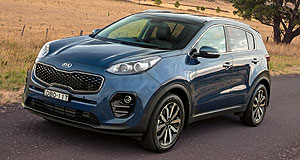 NZ sales  Surprise entry: Kia's just-launched Sportage SUV was the equal fourth best-selling vehicle in NZ last month – tying with the Mazda CX-5 – with 236 sales.