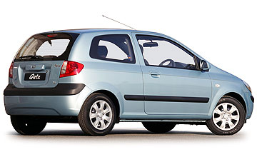 September 2002-October 2005 Hyundai Getz hatch range Rear shot