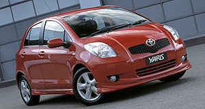 Toyota Yaris YRXSports toy: The YRX gains some styling upgrades.