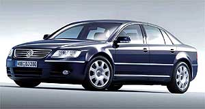 Volkswagen 2005 Phaeton Luxury line: The V8 Phaeton will compete against the Mercedes-Benz S350 and BMW 735.
