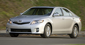 Toyota  Another one: The Toyota Camry hybrid is one of eight hybrids rolling off the Toyota drawing board.