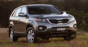 Kia 2012 Sorento New underpinnings: Kia's forthcoming update for the Sorento SUV will - unusually - include a revised platform.
