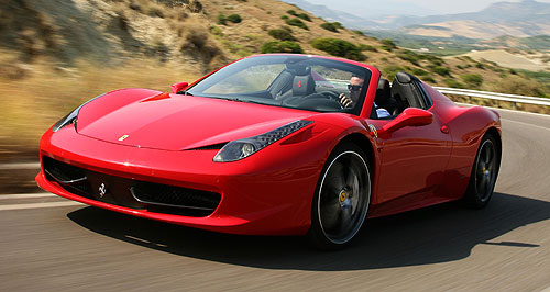 ferrari 458 spider to cost 590 000 goauto. Black Bedroom Furniture Sets. Home Design Ideas
