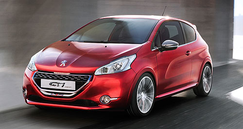 Peugeot 2013 208 GTIBack to the roots: The Peugeot 208 GTI concept that appeared at the Geneva show in February previews the production version that will debut in Paris in September.