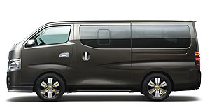Nissan 2013 NV350 Boxy number: Nissan chalks the NV350's resemblance to the Toyota Hi-Ace up to Japanese regulations.