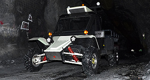 Tomcar LV1 Out of the dark: Tomcar's tough LV1 pure-electric mine support vehicle has gone under the spotlight at Melbourne's premiere mining and resources expo.