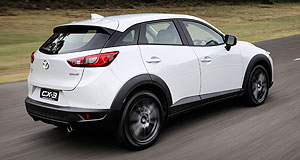 Mazda 2015 CX-3 Off road: Mazda's eagerly awaited CX-3 baby SUV won't officially launch in Japan until about April next year, but we were given a sneak-peek early drive on Australian turf.