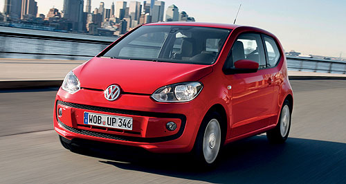 Volkswagen 2012 Up! Pricing Up: Volkswagen's new city car will be launched here in late September from under $15,000.