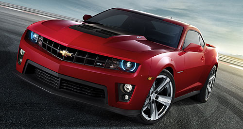 Chevrolet 2015 Camaro Superhero: Next year's thumping ZL1 supercharged V8 model will bolster the Camaro range as GM works on a developing a successor, with Holden's help.