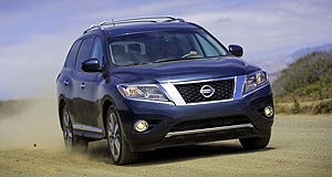 Nissan 2013 Pathfinder Big in America: Nissan's fourth-generation, seven-seat Pathfinder SUV will be sourced from the US for Australia, hence the lack of a diesel engine.