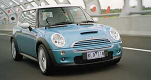 Mini Cooper Distinctive: The mailbox slot in the bonnet is a Cooper S giveaway.