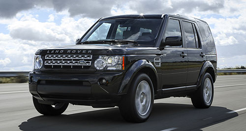 Land Rover 2013 Discovery Menacing: The MY13 Land Rover Discovery will be available with an optional Black Pack comprising moody-looking black alloy wheels and blacked-out exterior trim pieces.