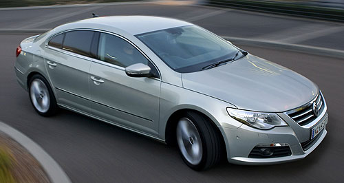 Volkswagen CC Efficiency gains: Volkswagen has added efficiency measures including idle-stop and regenerative braking to the Passat CC line-up.