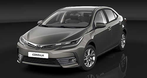 Toyota 2017 Corolla SedanOut there: Toyota's small car champion, the Corolla, is set to get a sedan facelift, but no, it is not the same as the changes revealed on the US Corolla at the New York motor show.