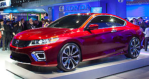 Honda 2013 Accord Hybrid countdown: The 2013 Honda Accord Coupe concept at the 2012 Detroit motor show signalled Honda's intention to add a hybrid powertrain to its mid-sizer.