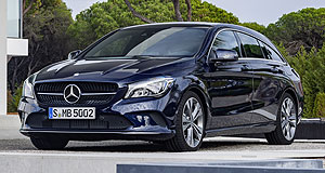 Mercedes-Benz 2016 CLA Mild mannered: Mercedes' revamped CLA, including the five-door Shooting Brake, is expected to land in Australia in the third quarter of this year.
