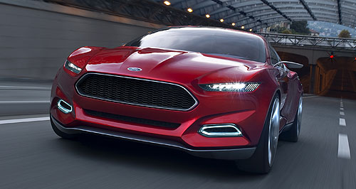 Ford 2014 Falcon Inspiration: Ford Australia says the Evos concept provides the foundation for forthcoming models, including the 2014 Falcon.