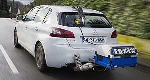 General News Emissions Exhaustive testing: Part of PSA Peugeot Citroen's real-world fuel consumption study involved the installation of portable emissions measurement systems on test vehicles.