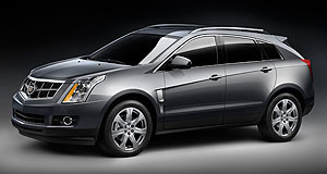 Cadillac 2010 SRX SRX appeal: Cadillac's new SUV features the brand's signature grille and vertical headlight designs.