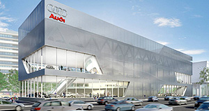 Audi  Imposing: New eight-level Audi HQ and retail outlet opens in 2009.