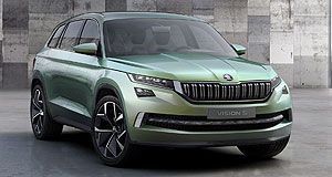 Skoda  Riding high: Skoda is set to get an SUV boost in the coming years with an all-new Yeti and a production version of the seven-seat VisionS concept (left) that was revealed at the Geneva motor show.