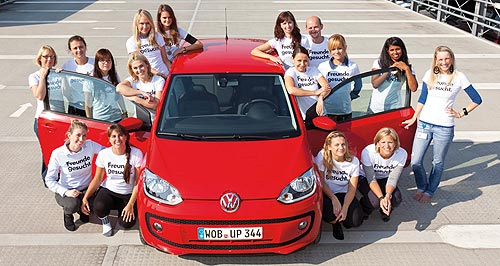 Volkswagen 2012 Up! three-doorStunt man: One (lucky) man and 15 women crammed themselves into the tiny Up to set an unofficial record.