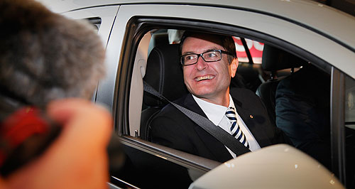 General News  Get positive: Federal industry minister Greg Combet says he does not want to hear people talking down the car industry, or it could become a self-fulfilling prophesy.