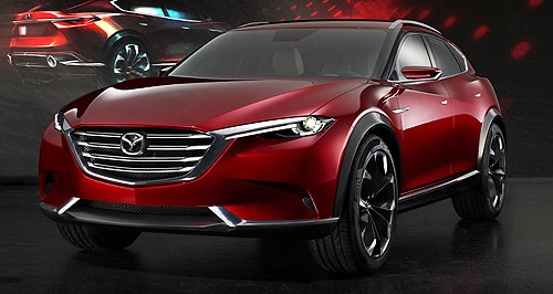 Mazda 2017 CX-4 4 ever new: A production version of the now confirmed CX-4 is yet to be revealed, but it is not expected to differ greatly from Mazda's Koeru concept (left and below).