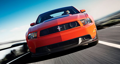 Ford 2010 Falcon Top Boss: Ford's Mustang Boss 302 will get a 328kW naturally aspirated version of Ford's Coyote V8.