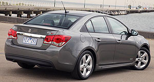 Holden 2012 Cruze SSRange topper: The rear of the locally-built Cruze could soon house Holden's famous 'SS' badge, overtaking the SRi-V as the sports-oriented flagship variant in the line-up.