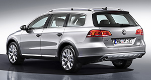 Volkswagen 2012 Passat AlltrackPumped up kicks: The Passat Alltrack Crossover will target rivals like the Subaru Outback and Skoda Octavia Scout when its lobs here next year.