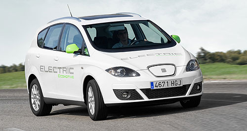 Seat 2015 Altea EVBright spark: Seat has unveiled an electric version of its Altea family truckster.