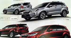 Subaru 2013 Forester First glimpse: This leaked Japanese brochure image looks to preview the next Subaru Forester, due here in early 2013 (source: Carscoop).