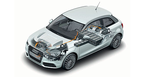 Audi 2015 A1 e-tronWankel no more: The second phase of Audi's experimental A1 e-tron hybrid ditches the rear rotary range-extender for a more conventional 1.5-litre three-cylinder petrol engine.