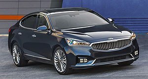 Kia 2016 Cadenza Forward eight: The Kia Cadenza is Kia's first front-drive model to feature an eight-speed automatic transmission.