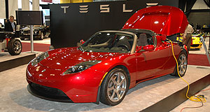 Tesla 2010 Roadster Right on: Tesla's top-down Roaster may be Australia-bound.