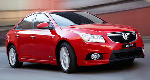 Holden Cruze sedan rangeFlagship: Holden Cruze SRi-V brings a sporting flavour to the local line-up.