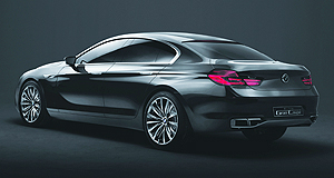 BMW 2012 6 Series Gran CoupeLow rider: BMW's sleek Gran Coupe concept is lower than the company's 5-Series and 7-Series.