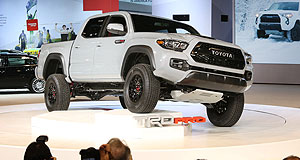 Toyota 2016 Tacoma TRD ProGreat white hope: The Toyota Tacoma TRD Pro has the style and the upgraded oily bits to out-tough some serious terrain, building hope that Toyota will do something similar in HiLux-addicted Australia.