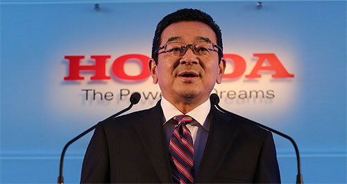Honda  Free hand: Honda president and CEO Takahiro Hachigo will have clear air in which to introduce his company reforms after nine top managers, including the chairman, leave the firm.