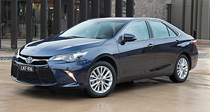 Toyota  Number one: The Toyota Camry reached the top spot in the Australian sales charts last month, with Toyota putting it down to strong retail offers and dealer incentives.