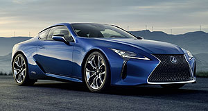 Lexus 2017 LC 500hDuel motor: If Lexus' hybrid LC adds an electric motor to the 5.0-litre V8 of the LC500, it would likely become the performance flagship of the two-variant range.