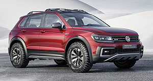 Volkswagen 2017 Tiguan GTE Active conceptActivated: Volkswagen's Tiguan GTE Active Concept has more off-road ability than the first GTE  version and can drive from Melbourne to Sydney without filling up.