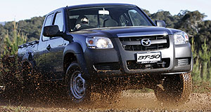 Mazda BT-50 utility rangeSplash with dash: The BT-50 will cope with a wide array of conditions.