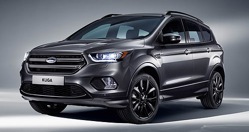 Ford 2016 Kuga Smarter: Ford's European-built Kuga medium SUV gets the Blue Oval's latest Sync 3 connectivity, along with a range of new safety technologies such as Cross Traffic Alert.